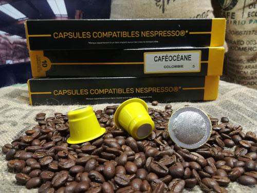 café boite 10 capsules Colombie Supremo