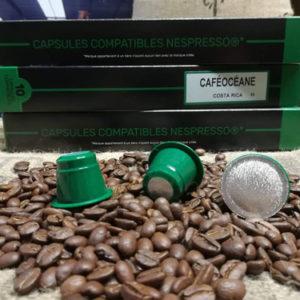 café boite 10 capsules Costa Rica