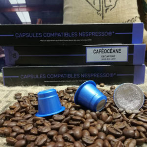 café boite 10 capsules décaféiné