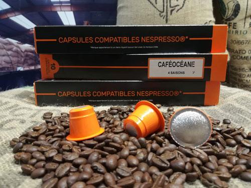 café boite 10 capsules mélange 4 saisons