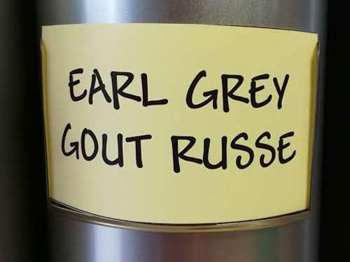 Thé noir Earl Grey goût russe en vrac DAMMANN