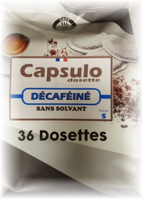"DOSETTES ""COMPATIBLES SENSEO"" DECAFEINE"