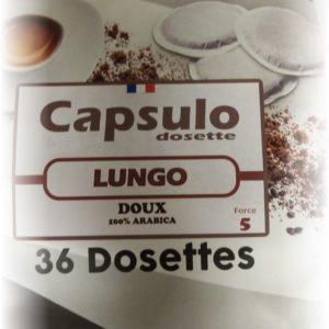 "DOSETTES ""COMPATIBLES SENSEO"" LUNGO"